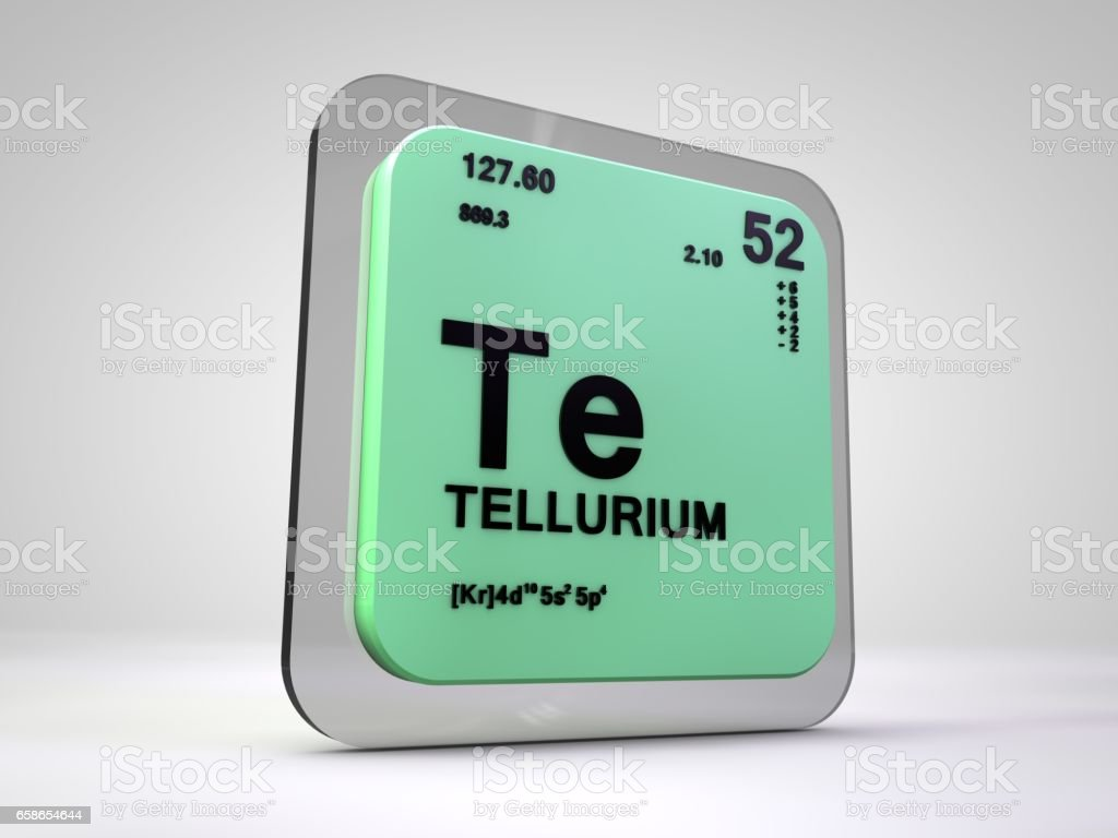 Fotografa de telurio te elemento qumico tabla peridica 3d render telurio te elemento qumico tabla peridica 3d render foto de stock libre de derechos urtaz Gallery