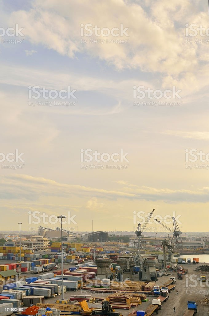 Tema Dockside Activity stock photo