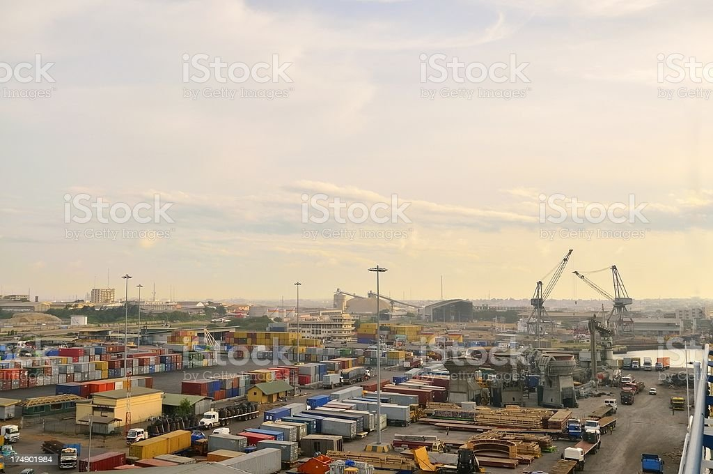 Tema Dockside Business stock photo
