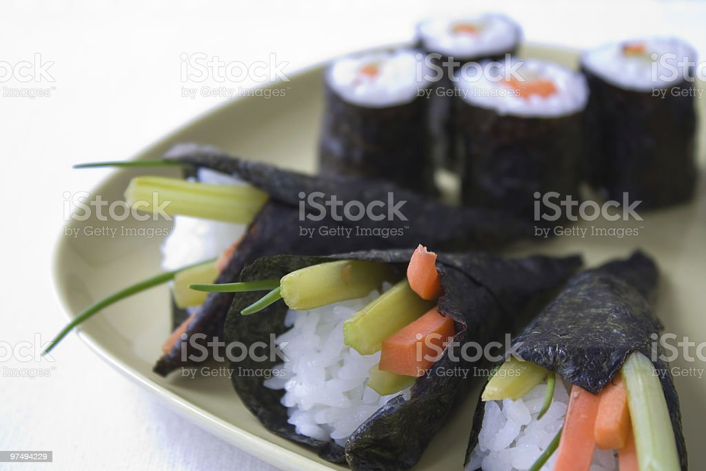 Temaki Sushi royalty-free stock photo