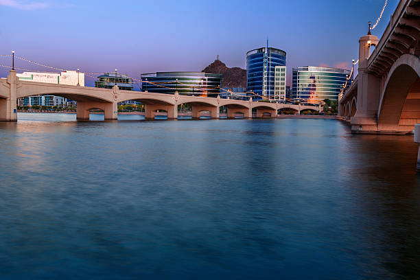 Tempe Arizona At Blue Hour stock photo