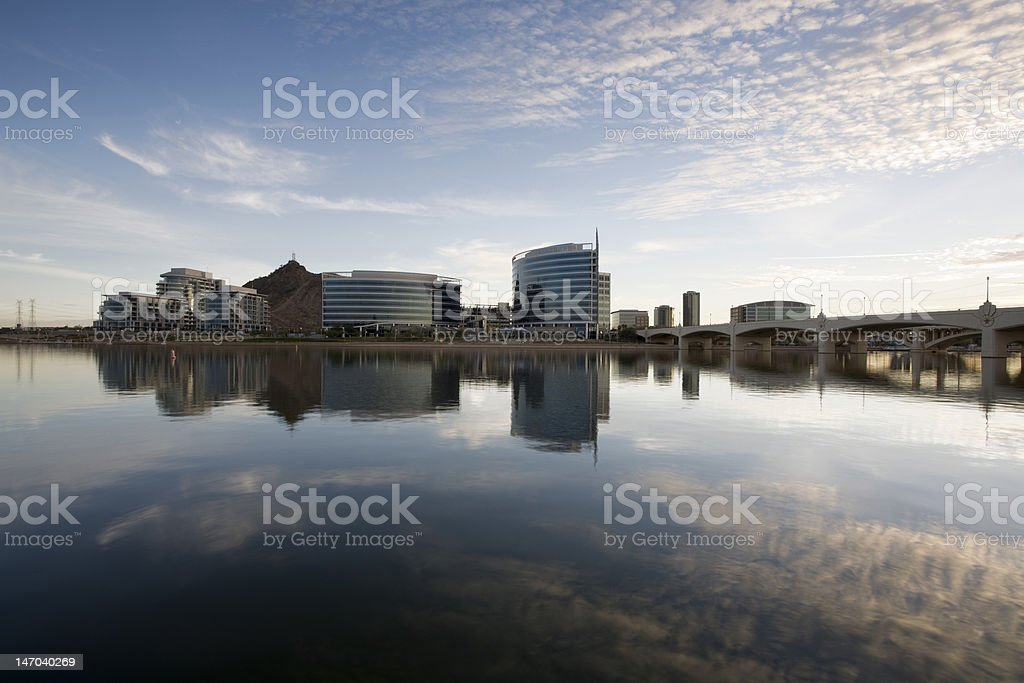 Tempe Arizona Downtown Skyline royalty-free stock photo