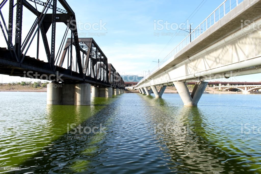 Tempe Bridges stock photo