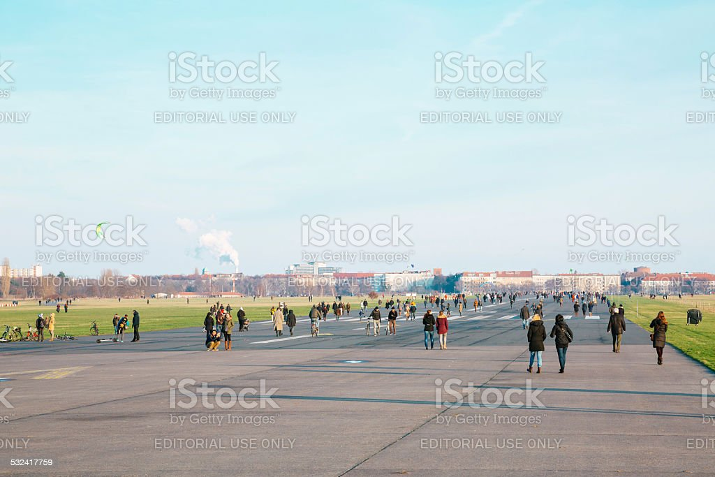 Tempelhof Airport, Berlin stock photo