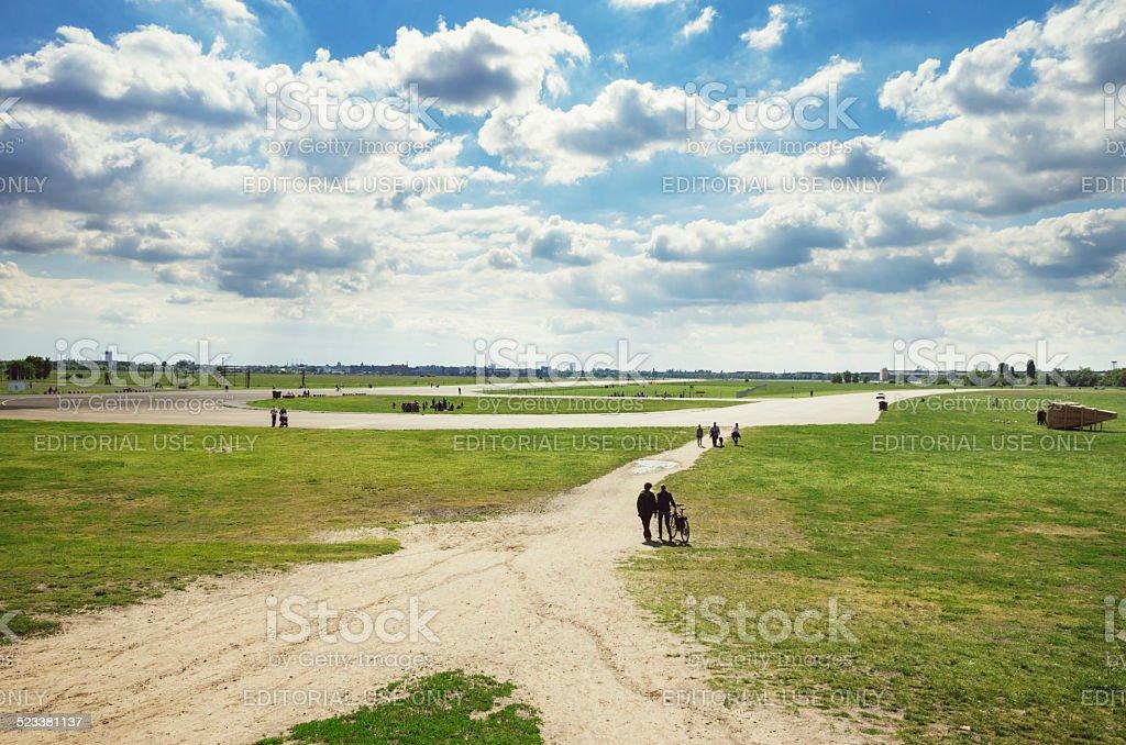 Tempelhof Fields in Berlin stock photo