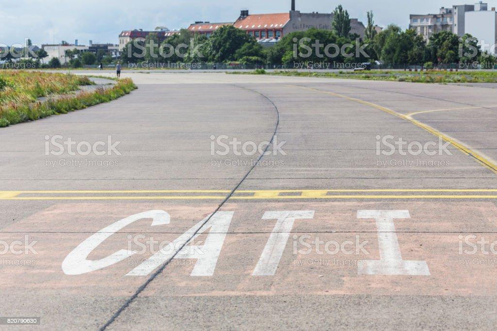 tempelhofer feld old airport berlin germany stock photo