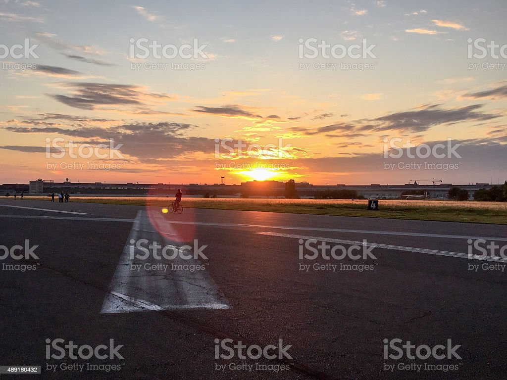 Tempelhofer Feld stock photo