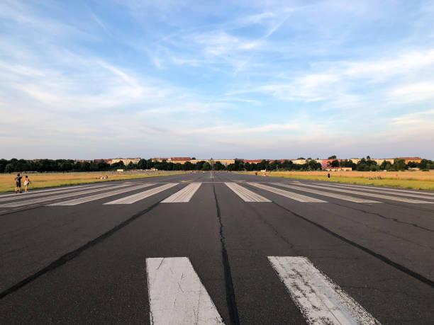 Tempelhofer Feld Runway stock photo
