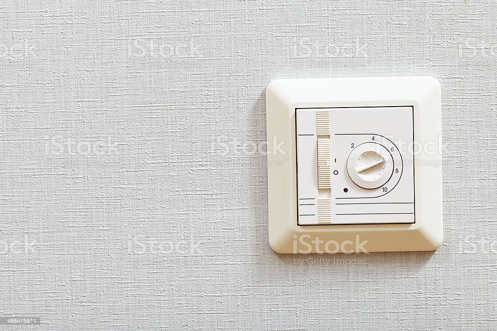 temperature controller of electric heating floor royalty-free stock photo