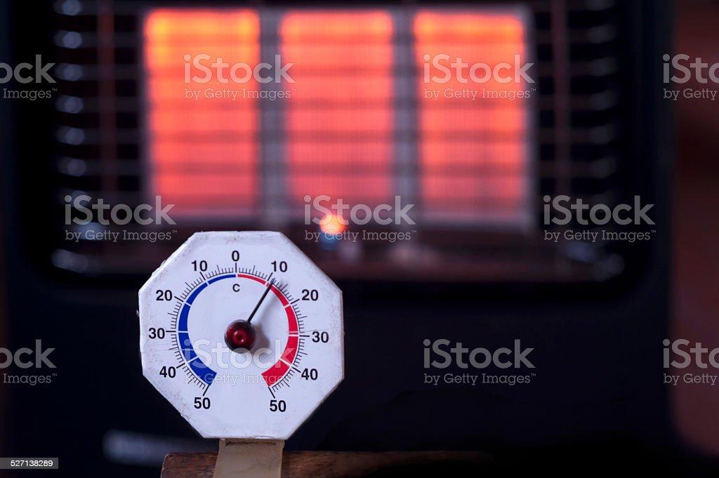 Temperature Gage stock photo