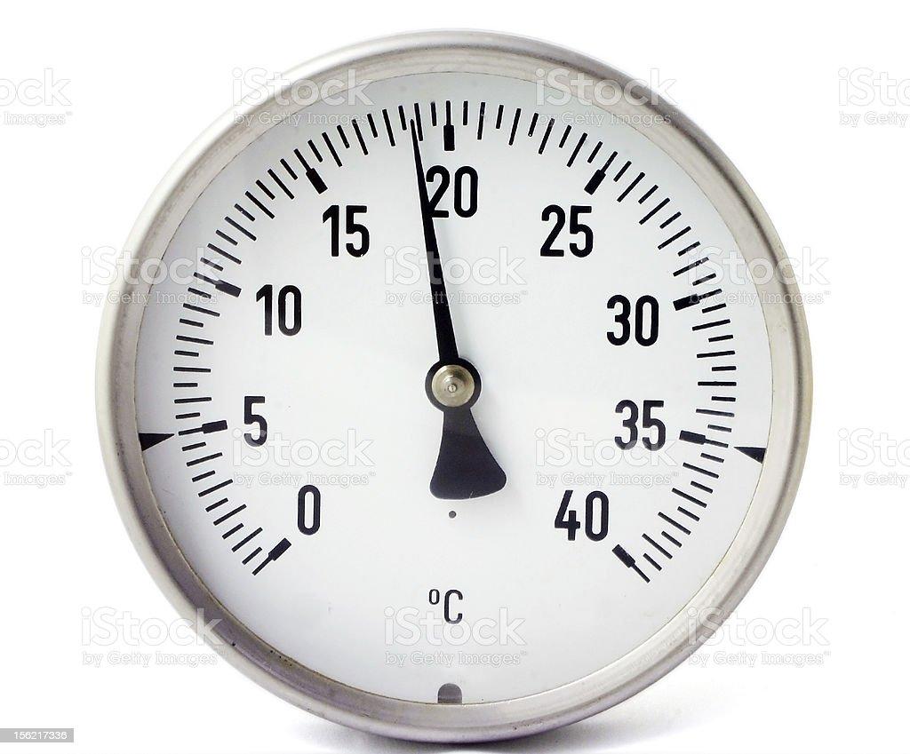 Temperature gauge royalty-free stock photo