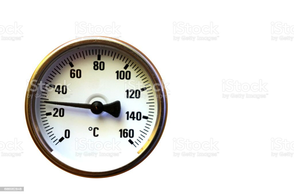 Temperature gauge royalty-free stock photo