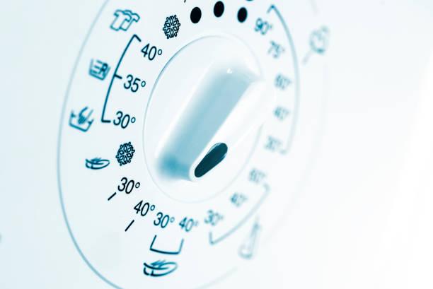 Temperaturknopf in der Waschmaschine – Foto