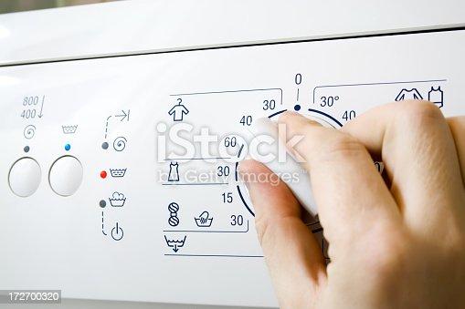 Temperature knob washing machine.