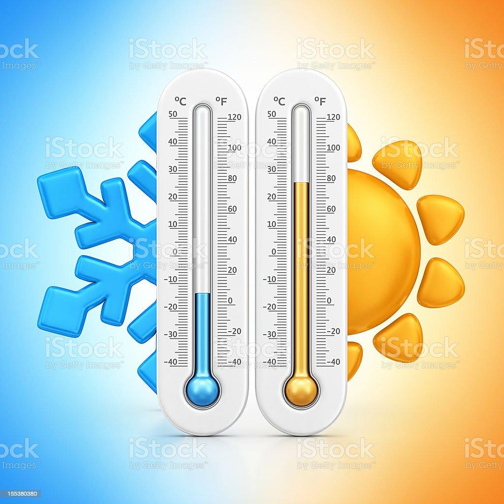 temperatures stock photo