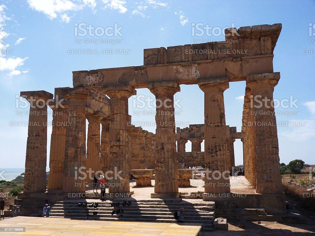 Tempio di Hera a Selinunte stock photo