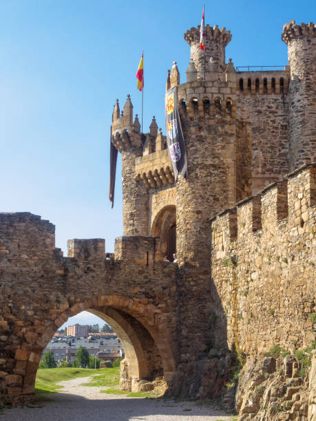 Templar Castle - Ponferrada stock photo