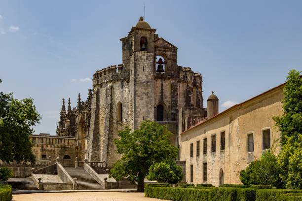 templar church convent of the order of christ tomar santarem portugal - knights templar stock pictures, royalty-free photos & images