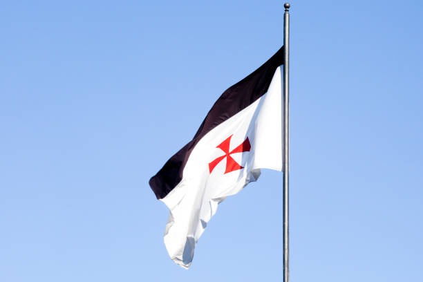 templar flag - knights templar stock pictures, royalty-free photos & images