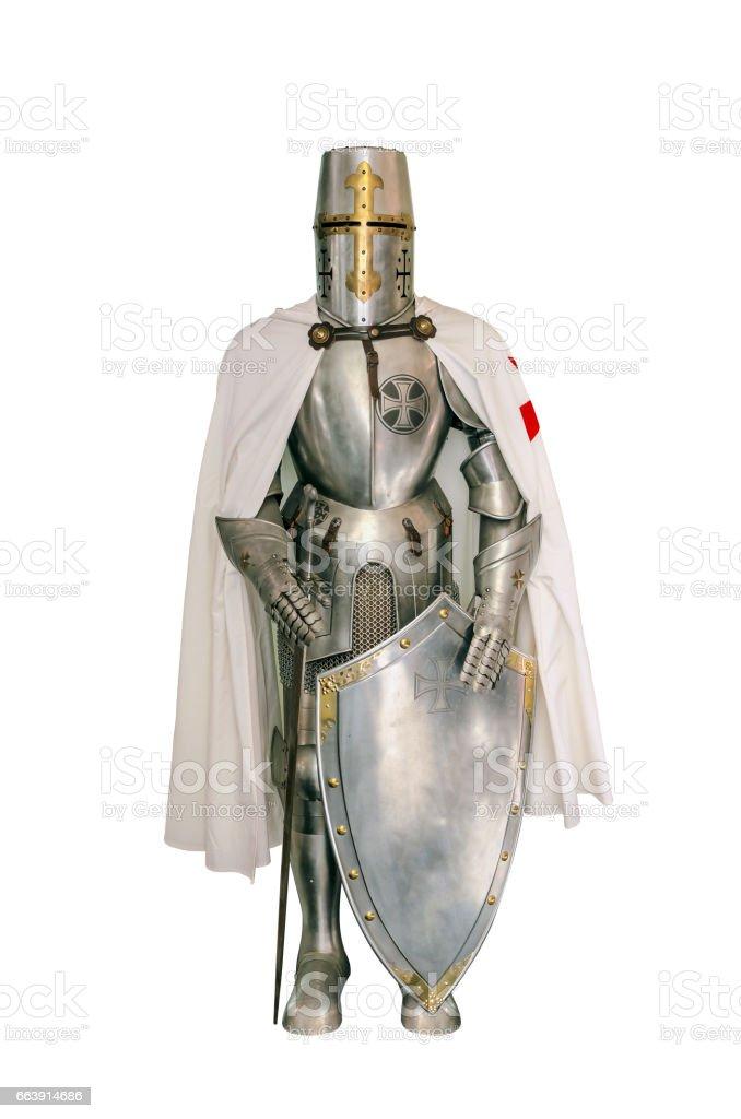 Templar knight stock photo