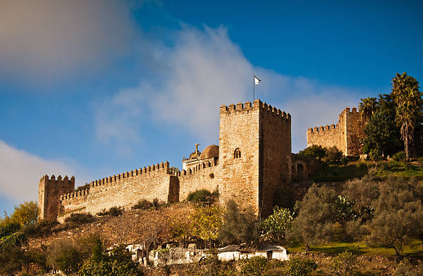 templars castle in jerez de los caballeros - knights templar stock pictures, royalty-free photos & images