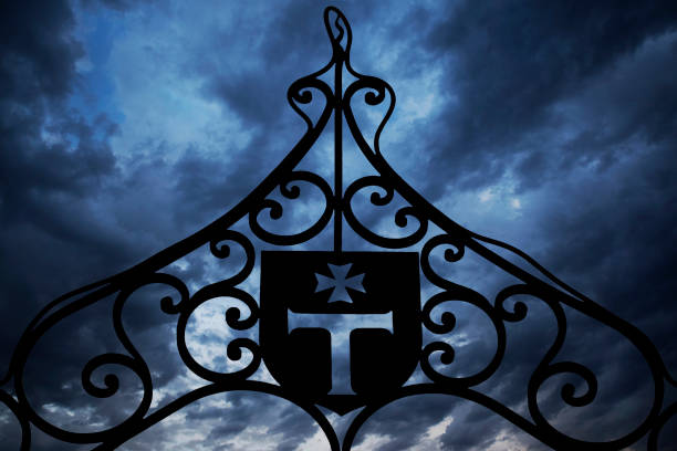 templars iron gate - knights templar stock pictures, royalty-free photos & images