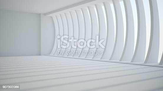 istock Template abstract empty architectural space 907302086