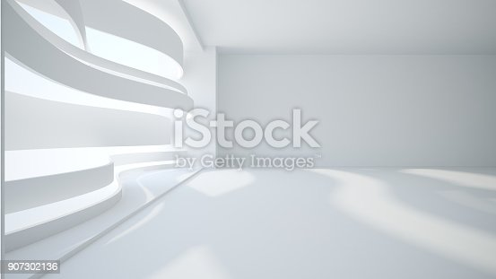 istock Template abstract empty architectural space 907302136