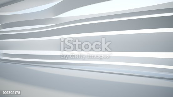 istock Template abstract empty architectural space 907302178