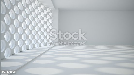 istock Template abstract empty architectural space 907303506