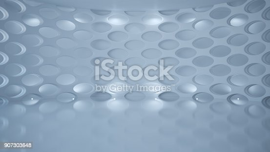 istock Template abstract empty architectural space 907303648