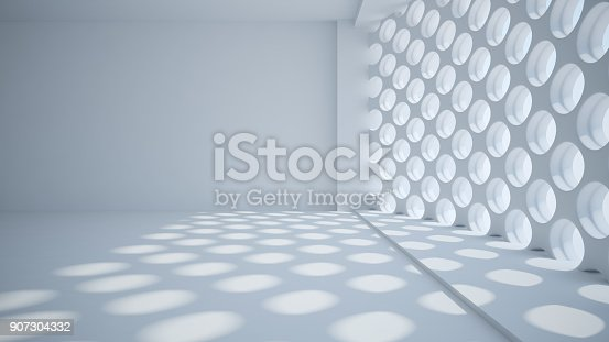istock Template abstract empty architectural space 907304332