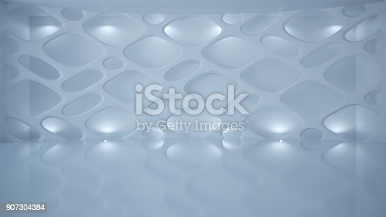 istock Template abstract empty architectural space 907304384