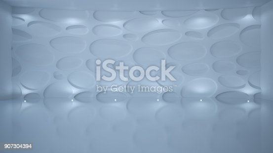 istock Template abstract empty architectural space 907304394