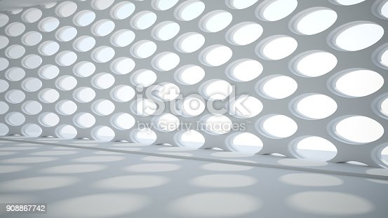 istock Template abstract empty architectural space 908867742