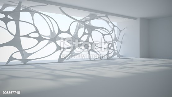istock Template abstract empty architectural space 908867746