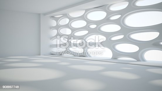 istock Template abstract empty architectural space 908867748