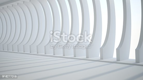 istock Template abstract empty architectural space 918277018