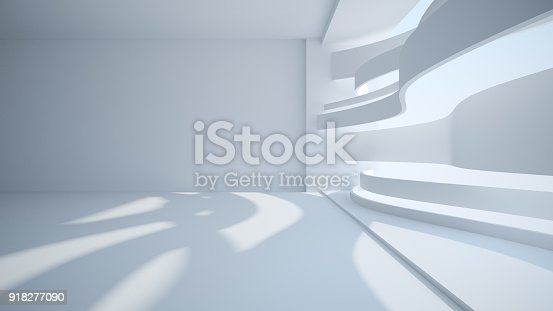 istock Template abstract empty architectural space 918277090
