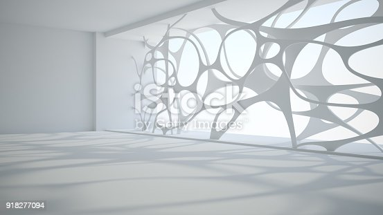 istock Template abstract empty architectural space 918277094
