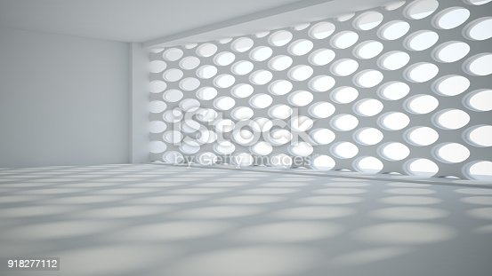 istock Template abstract empty architectural space 918277112