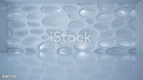 istock Template abstract empty architectural space 918277132