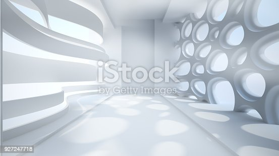 istock Template abstract empty architectural space 927247718