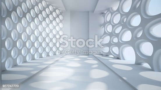 istock Template abstract empty architectural space 927247720