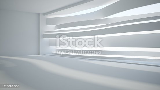 istock Template abstract empty architectural space 927247722