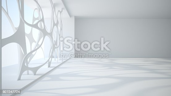 istock Template abstract empty architectural space 927247724