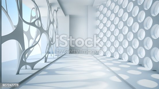 istock Template abstract empty architectural space 927247728