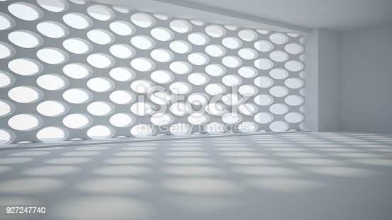 istock Template abstract empty architectural space 927247740