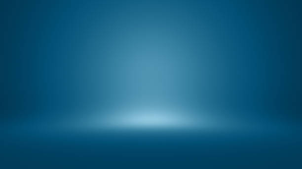 Template background empty interior Conceptual image representing template blue background.. A empty interior colored wall with light effect studio stock pictures, royalty-free photos & images