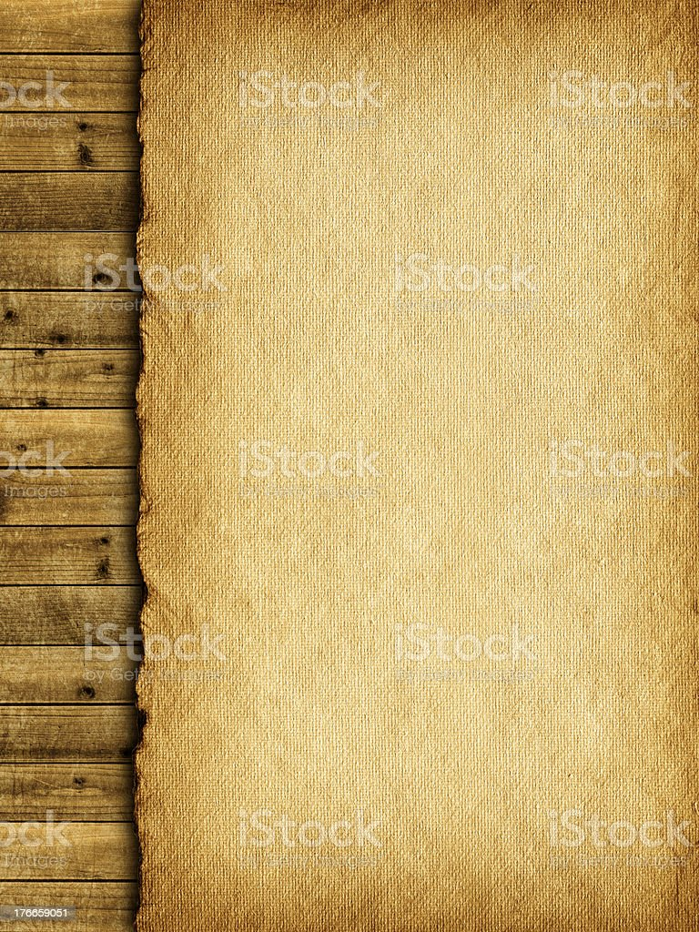 Template background - paper sheet and planks royalty-free stock photo
